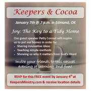 You are Invited to Keepers & Cocoa!
