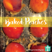 So Simple Baked Peaches Recipe