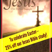 To celebrate Easter--25% off our Jesus Bible study!