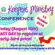 Today is last day to receive early-bird price!