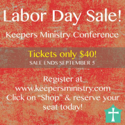 Keepers Conference Registration: Labor Day Sale!