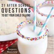 21 After School Questions to Get Your Child Talking
