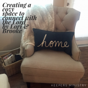 Creating a Cozy Space to Connect with the Lord