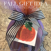 Pumpkin Poem Gift Idea with Recipes & Printable Pattern