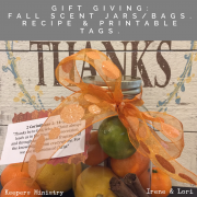 Gift Giving 101 -Holiday Scent Bags with Printable Tags