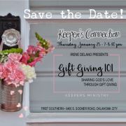"Save the Date: Keepers Connection ""Gift Giving 101"" with Irene Delano"