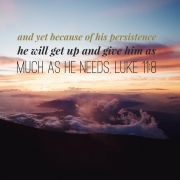 Persistence is not Pestering from God's Perspective