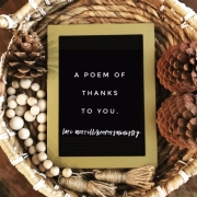 A Poem of Thanks