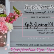 "Keepers Connection ""Gift Giving 101"" with Irene Delano: Registration Opens TODAY!"
