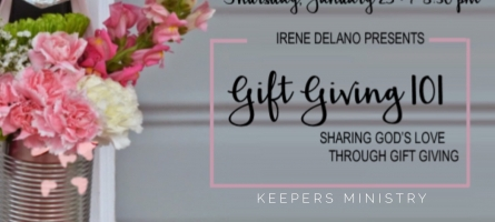 """Keepers Connection """"Gift Giving 101"""" with Irene Delano: Registration Opens TODAY!"""