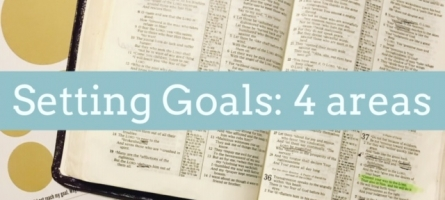 Setting Goals: 4 Areas