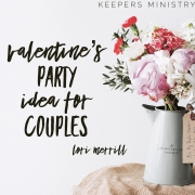 Valentine's Day Party Idea for Couples with Printable Poem Invitation