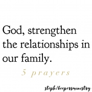 5 Prayers for My Family