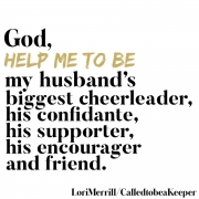 God, Help Me Be a Cheerleader for My Husband