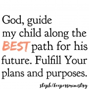 God, Guide My Child's Path