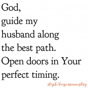 God, Guide My Husband