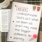 Obedience in the Small Things