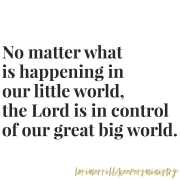 The Lord is in Control