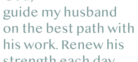 Prayers for Your Husband's Work