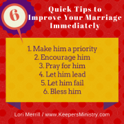 Bringing it All Together Six Quick Tips to Improve Your Marriage Immediately