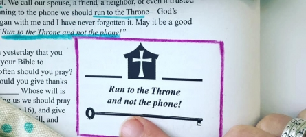 Run to the Throne and not the phone!