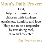 Mom's Daily Prayer