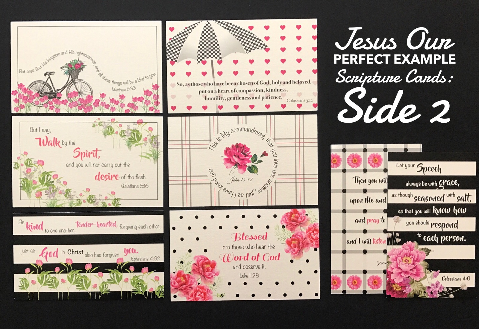 Check Out our NEW Scripture Card Sets for
